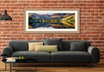 First Light at Buttermere - Framed Print with Mount on Wall