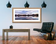 Colours of Dawn at Derwent Water - Framed Print with Mount on Wall
