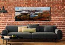 Loughrigg Tarn and Langdale Panorama - Canvas Print on Wall