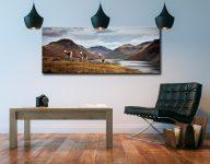 Three Sheep at Wast Water - Canvas Print on Wall
