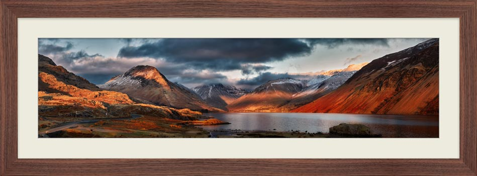 Winter Sun Over Wast Water - Framed Print