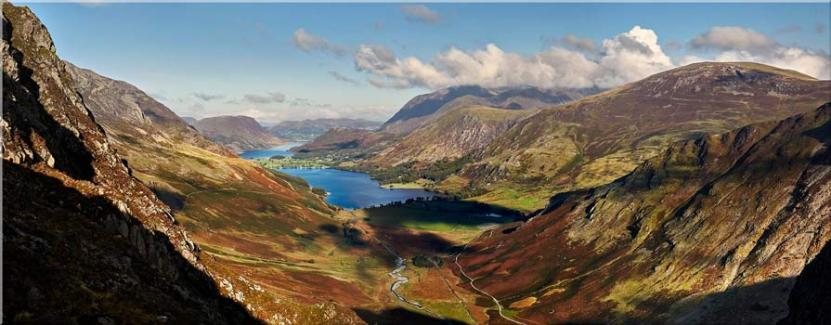 Buttermere Valley Green Crag - Canvas Prints
