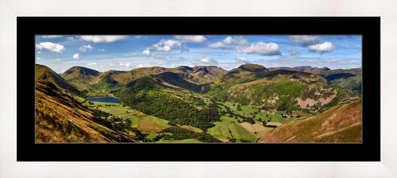 Deepdale and Dovedale Panorama - Framed Print with Mount