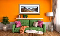 Three Sheep at Wast Water - Framed Print with Mount on Wall