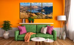 Ullswater From Harrison Crag - 3 Panel Canvas on Wall