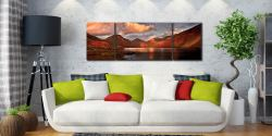 Dusk at Wast Water - 3 Panel Wide Mid Canvas on Wall