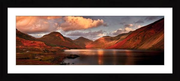 Dusk at Wast Water - Framed Print with Mount
