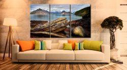 Elgol Beach Rocks - 3 Panel Canvas on Wall