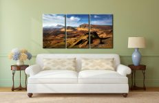 The Quiraing Range - 3 Panel Canvas on Wall