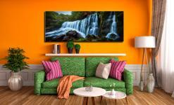 Upper Sgwd Isaf Clun-Gwyn Waterfall - Canvas Print on Wall