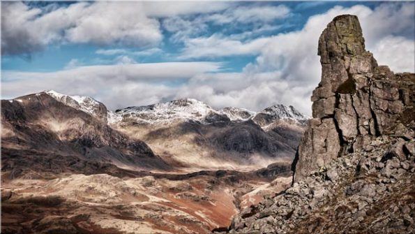 Eskdale Needle in Winter - Canvas Print