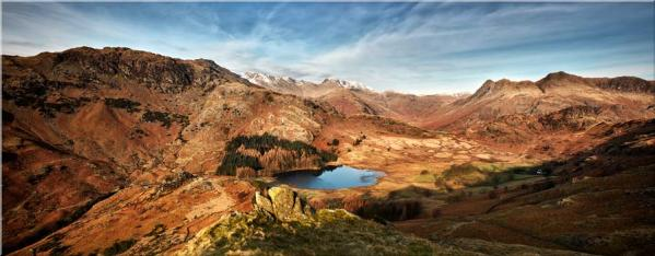 Blea Tarn From Lingmoor Fell - Canvas Print