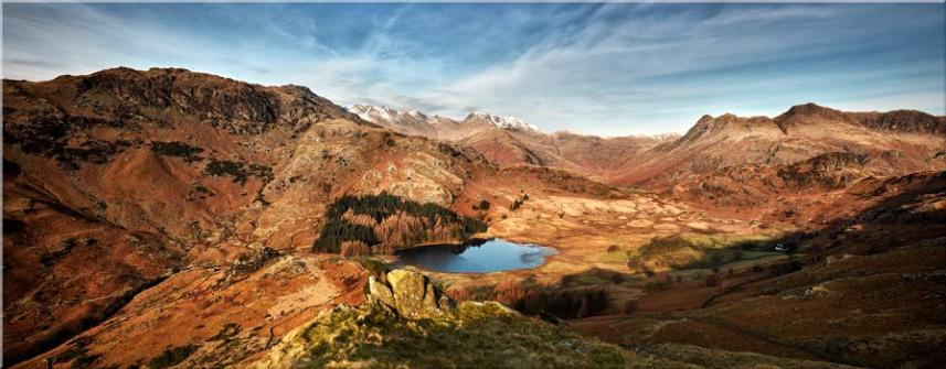 Blea Tarn From Lingmoor Fell - Canvas Prints