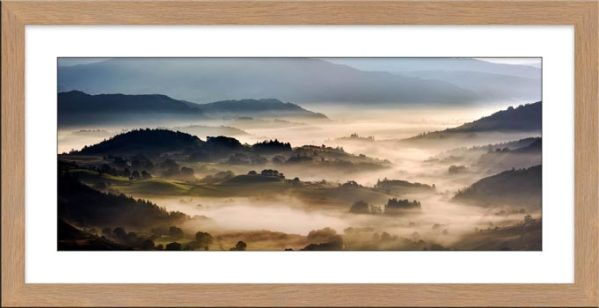 Rolling Hills of Little Langdale - Framed Print with Mount