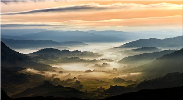 Little Langdale in the Mist - Canvas Print