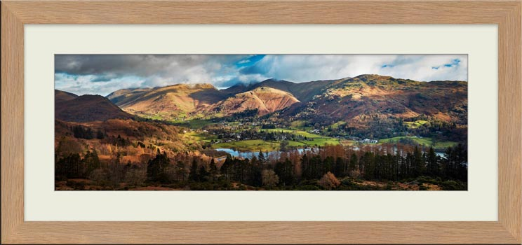 Grasmere Village Panorama - Framed Print