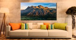 The Langdale Pikes in the Morning Light - Canvas Print on Wall