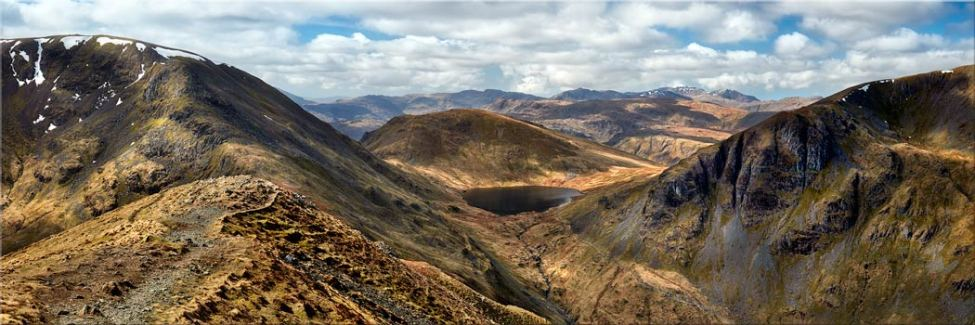 Grisedale Tarn From Deepdale Hause - Canvas Prints