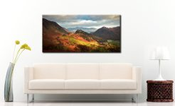 Castle Crag and Kings How - Canvas Print on Wall