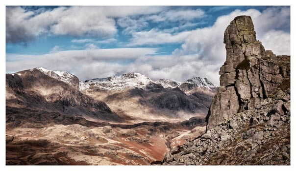 Eskdale Needle in Winter - Lake District Print