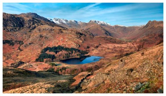 Winter Sun Over Blea Tarn - Lake District Print