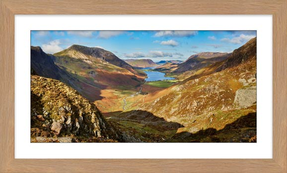The Buttermere Valley Autumn Sunshine - Framed Print