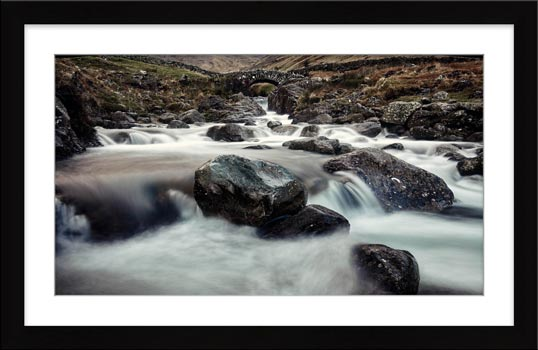 Grains Gill and Stockley Bridge - Framed Print with Mount