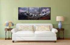 Hay Stacks and Scarth Gap Winter - 3 Panel Canvas on Wall
