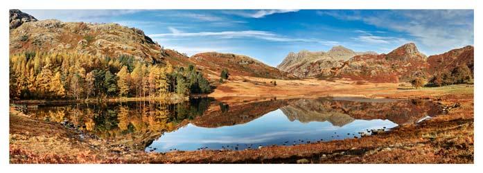 Blea Tarn Autumn Panorama - Lake District Print
