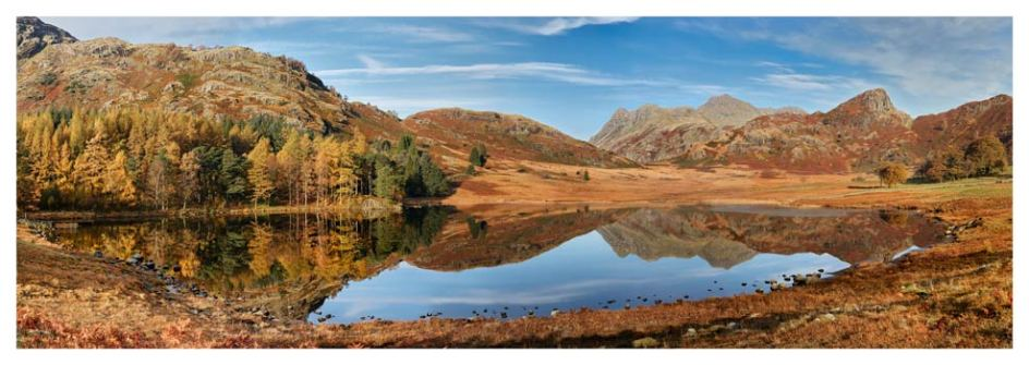 Blea Tarn Autumn Panorama - Lake District Print