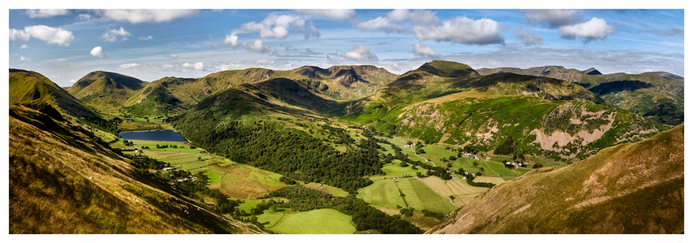 Deepdale and Dovedale Panorama - Lake District Print