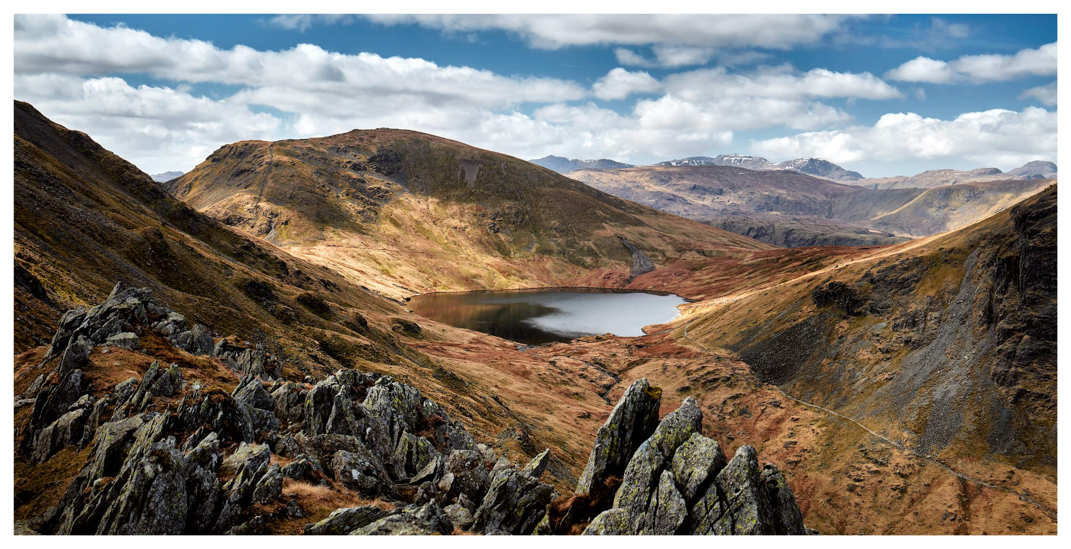 Grisedale Tarn Bowl - Lake District Print