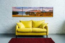 Derwent Water and Catbells in Morning Light - 3 Panel Wide Centre Canvas on Wall