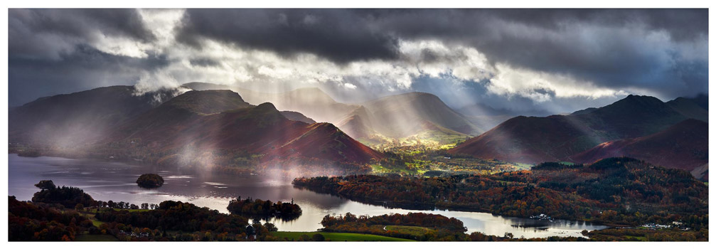 Sunbeams Over the Derwent Fells - Lake District Print