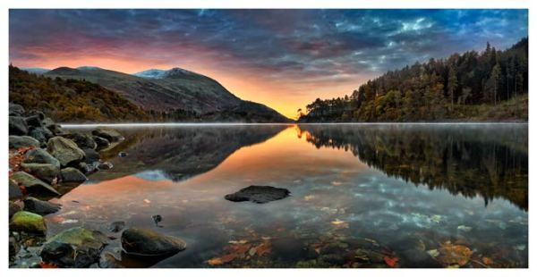 Thirlmere Autumn Dawn - Lake District Print