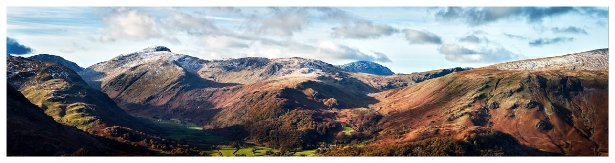 Borrowdale Mountains Panorama - Lake District Print
