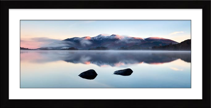 New Day Dawns at Derwent Water - Framed Print with Mount