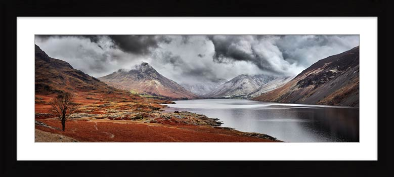 Dark Skies Over Wast Water - Framed Print