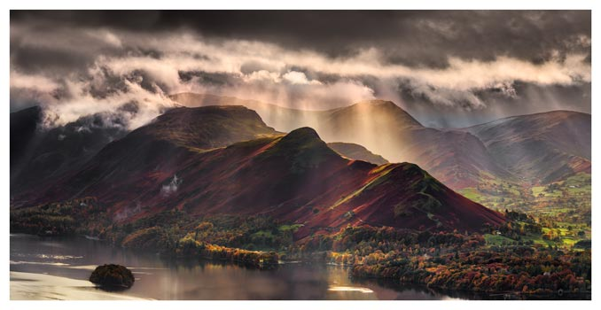 Sunshine and Showers on Cat Bells - Lake District Print