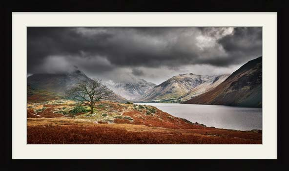Winter Colours of Wast Water - Framed Print with Mount