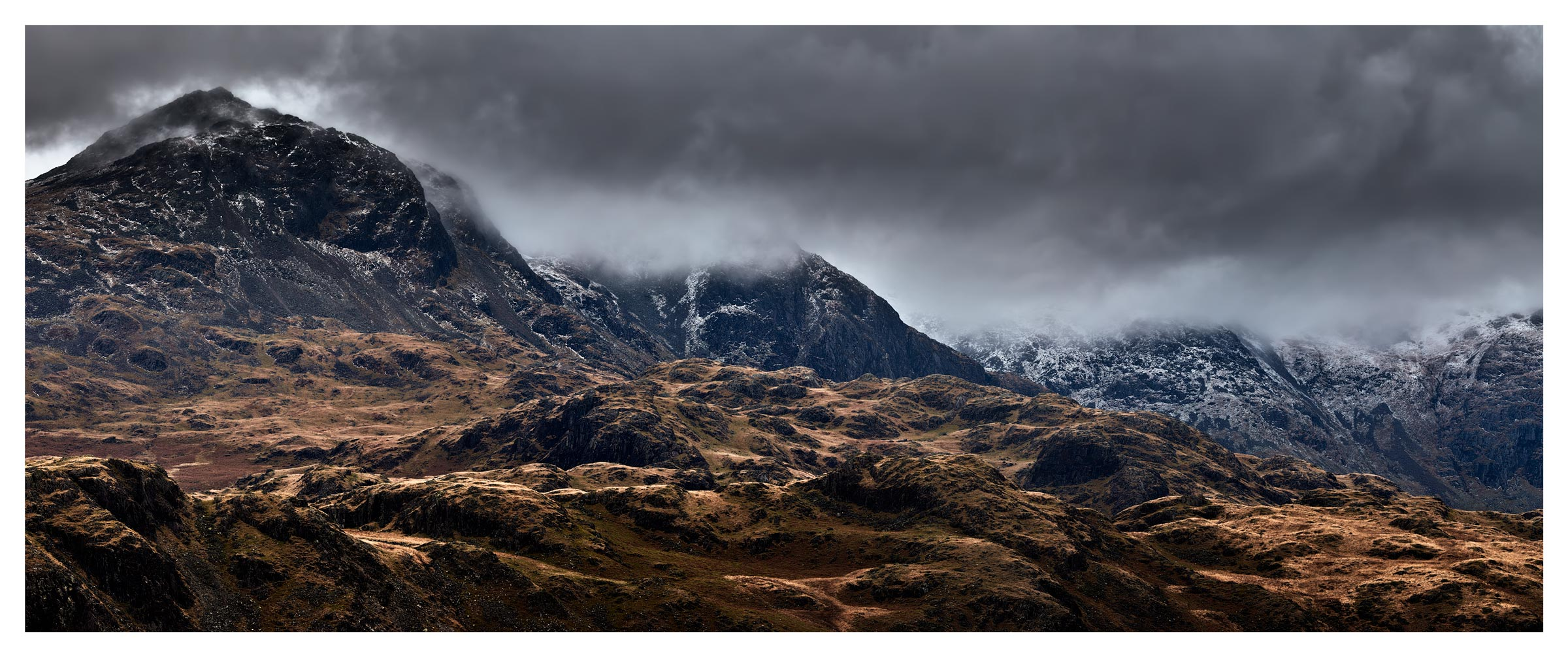 Sca Fell Mountains from Hardknott - Lake District Print