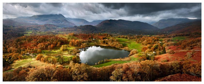 Loughrigg Tarn Autumn Sunshine - Lake District Print
