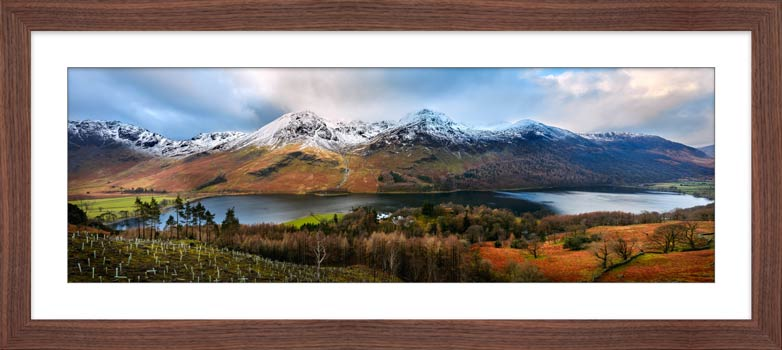 Buttermere Winter Panorama - Framed Print