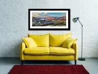Keswick in the Morning Sunshine - Framed Print with Mount on Wall