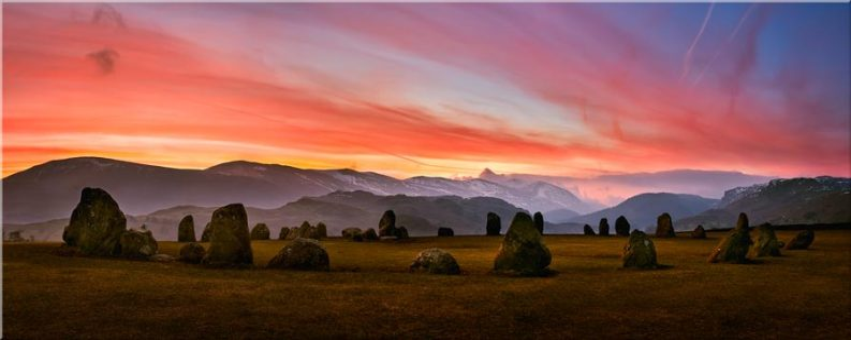 Dawn Skies Over Castlerigg - Canvas Prints