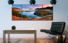 Dawn Colours of Grasmere  - 3 Panel Wide Mid Canvas on Wall