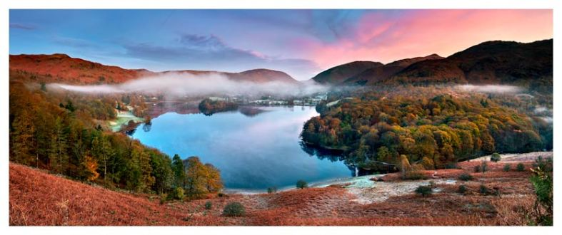 Dawn Colours of Grasmere - Lake District Print