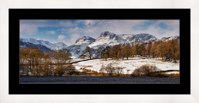 Loughrigg Tarn Winter View - Framed Print