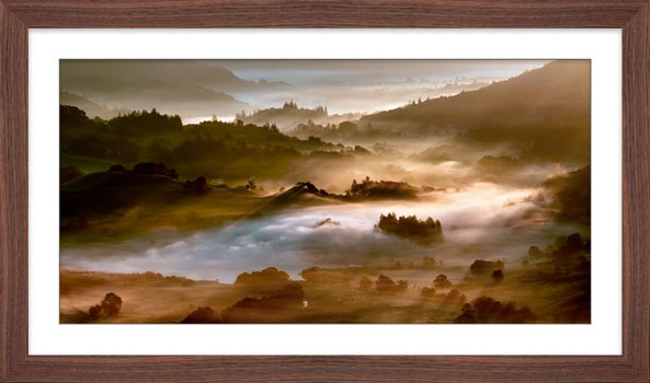 Morning Mists Over Little Langdale - Framed Print with Mount
