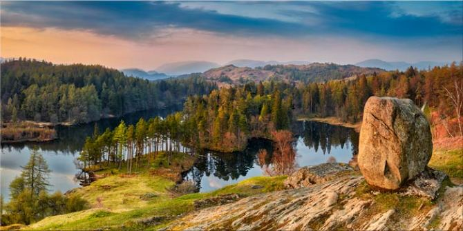 Dusk at Tarn Hows - Canvas Print
